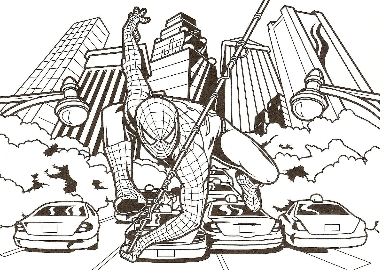 Coloriage spiderman - Coloriage spiderman imprimer ...