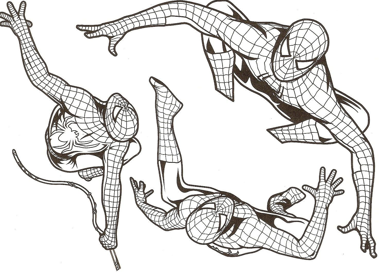 A colorier page 2 - Coloriage de spider man ...