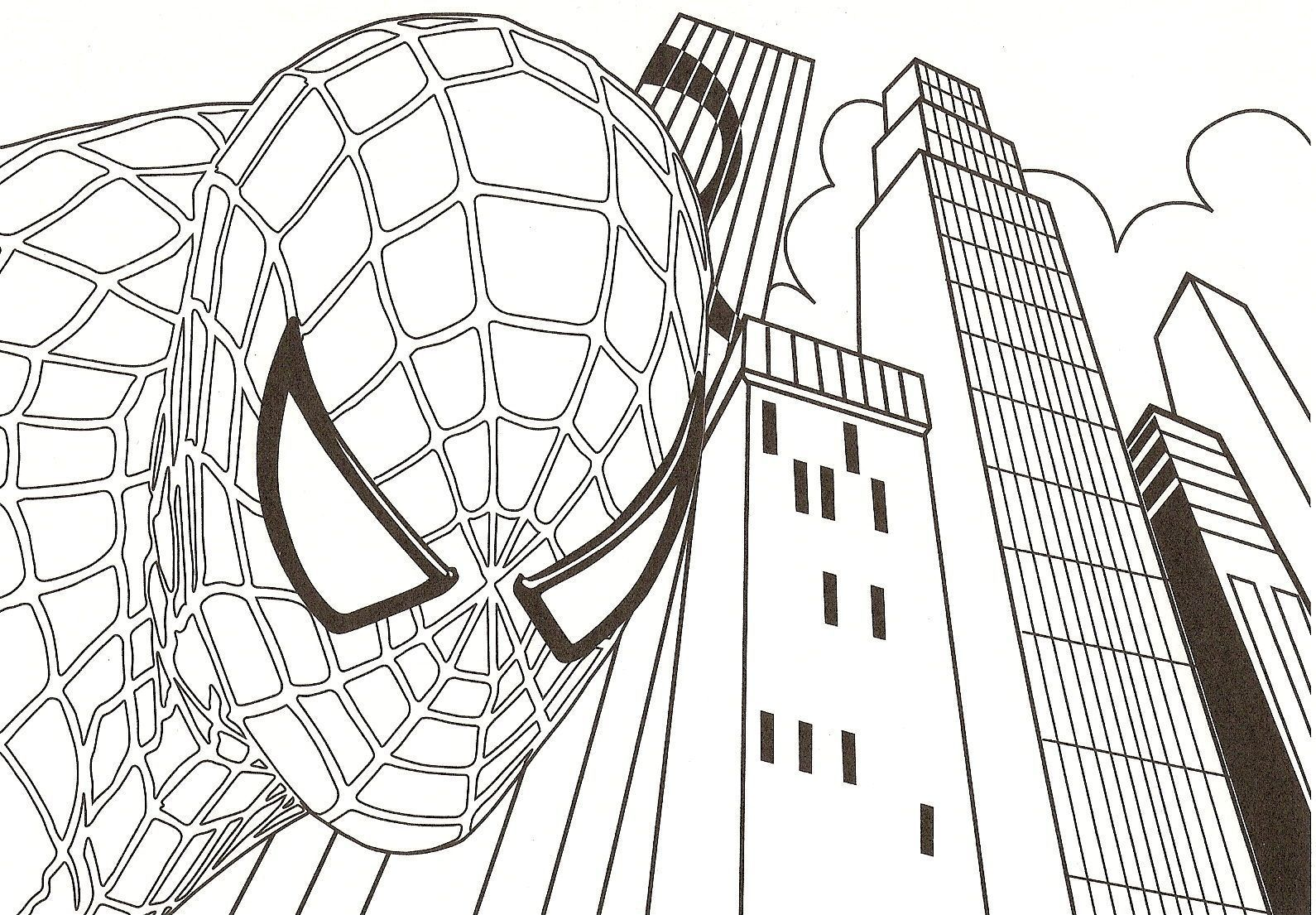 Coloriage spiderman centerblog - Dessin spiderman facile ...